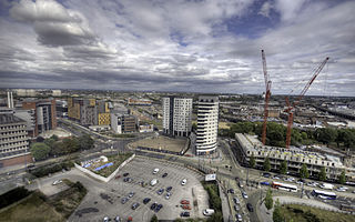 Eastside, Birmingham district of Birmingham City Centre, England