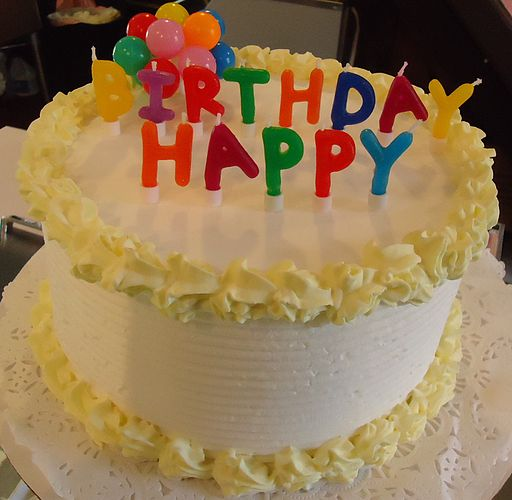 Birthday cake in ice cream shop in Basking Ridge New Jersey