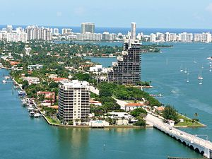 Venetian Islands, Florida - Aerial view of the westernmost Venetian Islands from Omni
