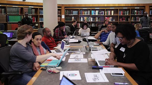 File:BlackLifeMatters Wikipedia Edit-a-thon in Harlem, New York City, February 6, 2016.webm