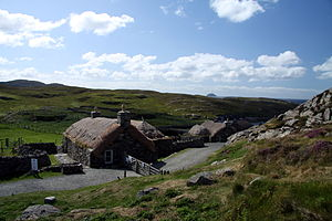 Carloway - Black houses, a museum in the village