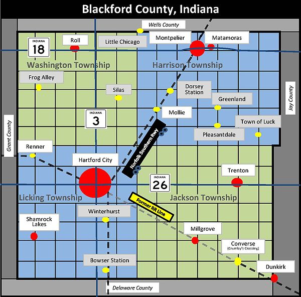 Hartford City Indiana Map.Timeline Of Blackford County Indiana History Wikipedia