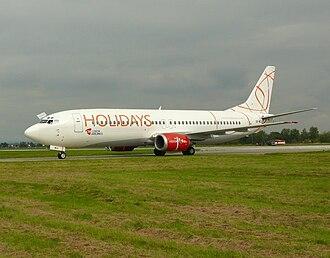 Hradec Králové Airport - Boeing 737-400 CSA Holidays on LKHK