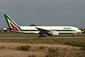 Boeing 777-243ER I-DISE Alitalia (6662068387).jpg