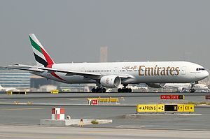 Emirates Flight 521 - A6-EMW, the aircraft involved in the accident, pictured in 2009 at Dubai International Airport
