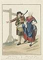 Boer en boerin uit Noord-Brabant Geluk Deerske gaude ook op den Bosch Bon jour, Jolie Fille vous allez aussi à Bois-le-duc (titel op object), BI-B-FM-108-16.jpg