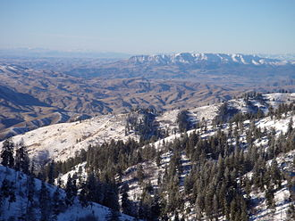 Treasure Valley - The Treasure Valley from the east side of Bogus Basin