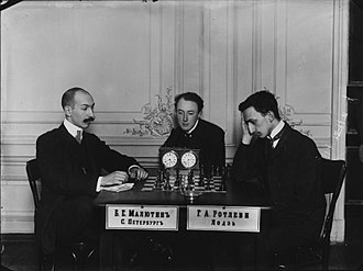 Boris Maliutin - Boris Maliutin and Gersz Rotlewi, before 1910