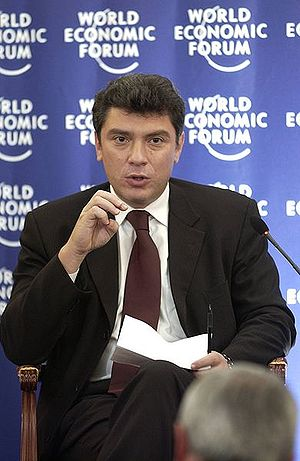 Boris Nemtsov - Boris Nemtsov at the World Economic Forum, 2 October 2003, Moscow