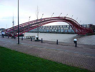West 8 - The Borneo Sporenburg Bridge designed by West 8.