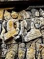Borobudur - Lalitavistara - 001 E, Bodhisattva in Tusita Heaven amongst the Gods (detail 1) (11248194004).jpg
