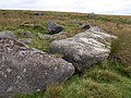 Boulders above Bledge Brook - geograph.org.uk - 1514282.jpg