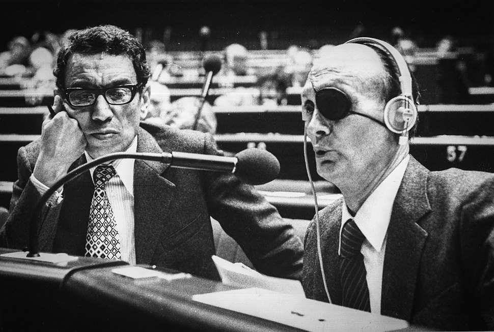 Boutros Boutros-Ghali et Moshe Dayan Strasbourg 10 octobre 1979