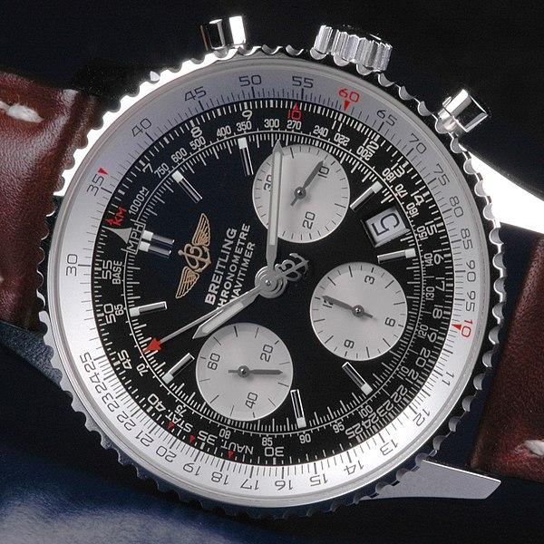 Une montre étonnante, la Juvénia arithmo! 600px-Breitling_Navitimer_slide_rule