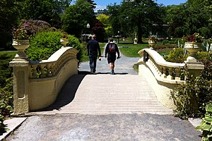 Halifax Public Gardens - Francis Fitzgerald Bridge over Freshwater Brook