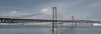25 de Abril Bridge - View from Almada.