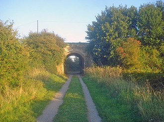 Beeching cuts - Part of the former Chippenham and Calne line, now a cycleway