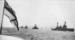 Grand Fleet -  The Grand Fleet sailing in parallel columns during the First World War