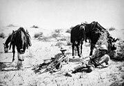 British Yeomanry on patrol in the desert 1918 IWM photo Q 050903