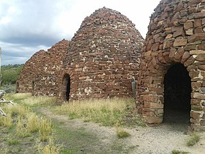 National Register of Historic Places listings in Moffat County, Colorado - Image: Bromide Charcoal Kilns, Greystone, Moffat County, Colorado