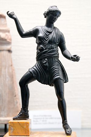 Diana (mythology) - Gallo-Roman bronze statuette of Diana (latter 1st century)