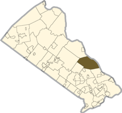 Location of Upper Makefield Township in Bucks County