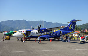 Buddha Air - Buddha Air ATR 42-300 at Pokhara Airport in 2014.