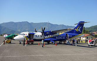 Buddha Air - Buddha Air ATR 42-300 at Pokhara Airport in 2014.
