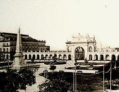 Buenos Aires - Recova, Plaza de la Victoria y Teatro Colón,.JPG