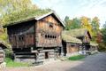 Buildings at Norsk Folkemuseum in Oslo Norway.png