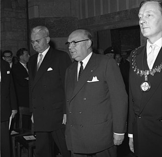 Charlemagne Prize - Paul-Henri Spaak in the 1957 ceremony
