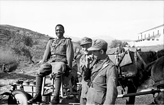 Black people - Soldiers of the Free Arabian Legion in Greece, September 1943