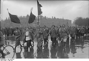 Young Communist League of Germany - Communist youth marching in 1925 May Day rally in Berlin.