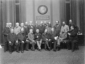 German Free-minded Party - Members of the Free-minded Party at the Reichstag foyer, 1889
