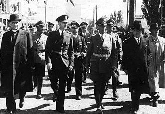Hans Globke - Globke and Reich Interior Minister Wilhelm Frick in Bratislava, Slovak State, September 1941