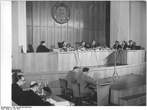 Hans Globke - Globke's trial ''in absentia taking place in East Germany, July 1963