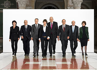 Christoph Blocher - Official Swiss Federal Council photo for 2007. Blocher is the second person from the left.