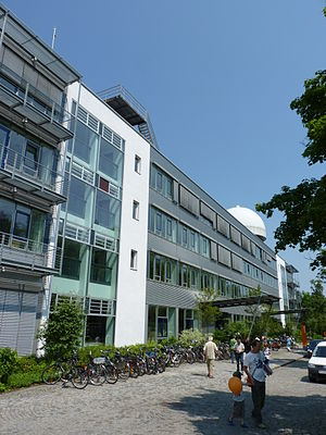 Bundeswehr University Munich - One of the central buildings containing the large Audimax lecture hall