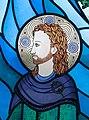 Bundoran Church of Our Lady, Star of the Sea Rosary Chapel Magh Ene Window by Jo Tinney Detail Saint Ninnidh II 2013 09 19.jpg