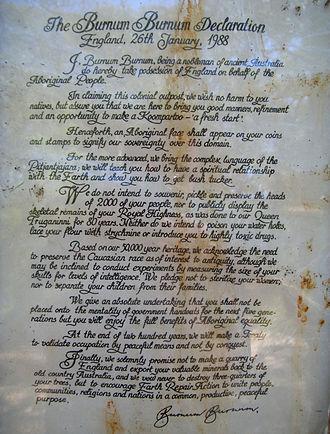 Burnum Burnum - The Burnum Burnum Declaration