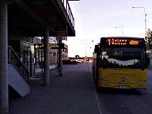 Åbo flygplats-Reguljärt flyg (utrikes)-Fil:Bus number 1@Turku Airport