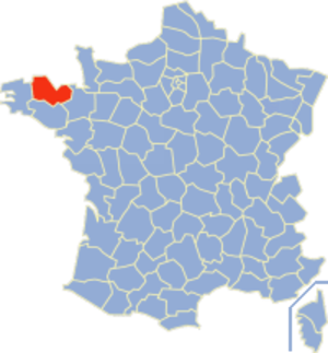 Communes of the Côtes-d'Armor department - Image: Côtes d'Armor Position