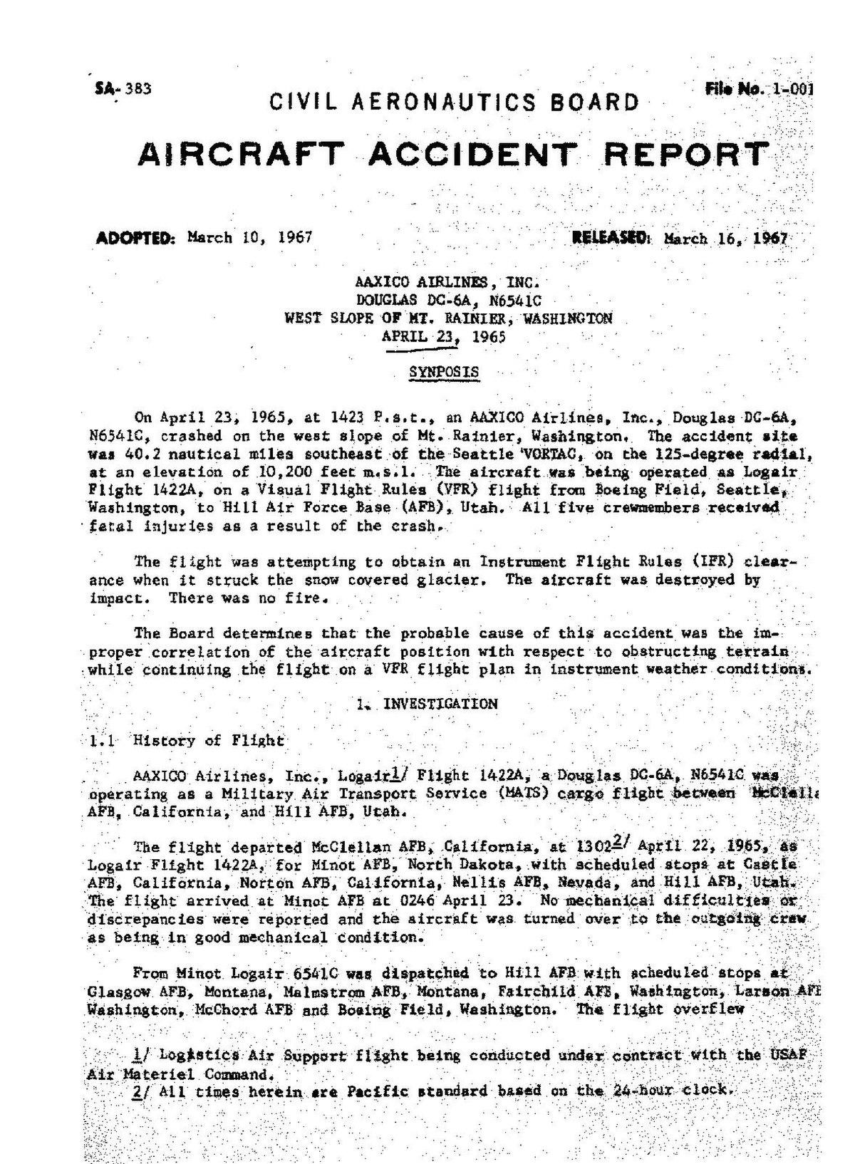 File:CAB Accident Report, AAXICO Logair Flight 1422A.pdf ...