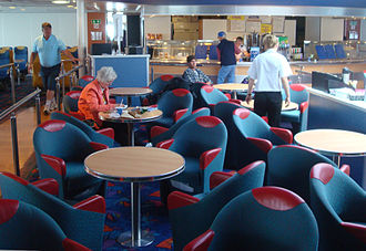 Bay Ferries - Dining area of CAT ferry