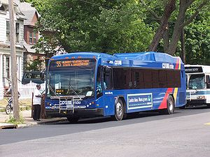 CDTA Gillig Low Floor Hybrid BRT bus 4013 in S...