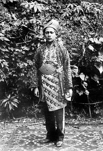 Agam Regency - Bridegroom from Soengai Poear (Sungai Puar Agam in a photo by Christiaan Benjamin Nieuwenhuis