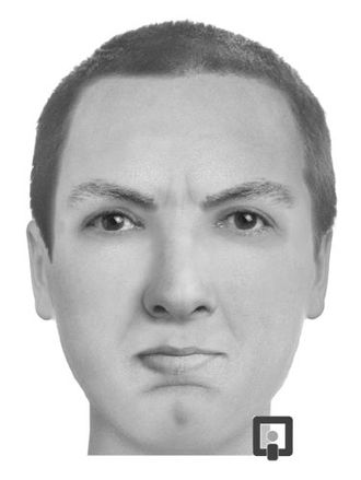 Facial composite -  A facial composite produced by FACES software