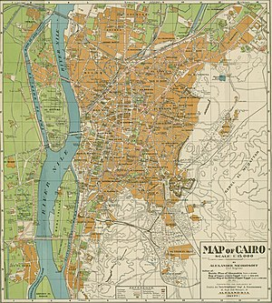 Timeline of Cairo - Map of Cairo, 1933