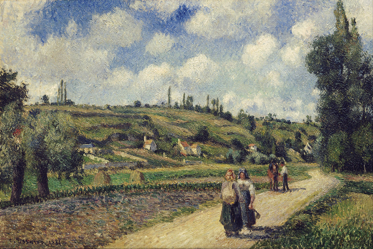 File camille pissarro landscape near pontoise the for Nearby landscapers