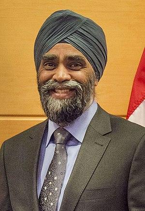 Minister of National Defence (Canada) - Image: Canadian Minister of Defense Harjit Sajjan